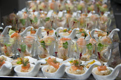 Food cocktai served on  platter for party Stock Images