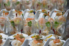 Food cocktai served on  platter for party Stock Photography