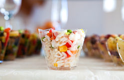 Food for cocktail on wedding party Royalty Free Stock Photo