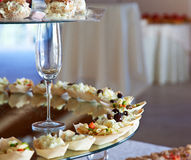 Food for cocktail on wedding party Royalty Free Stock Photography