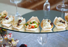 Food for cocktail on wedding party Stock Photo