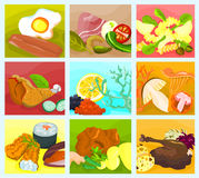Food collage 02. Picture of a various food - collage B Royalty Free Stock Photos