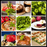 Food Collage. Collage of nine different food types in the same picture Royalty Free Stock Photography