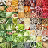 Food collage - concept for healthy diet Stock Photography