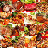 Food Collage. Gourmet Restaurant Meat Set Stock Photography