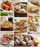 Food collage from a restaurant Stock Photography