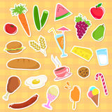 Food collection. Collection of major food groups Royalty Free Stock Photo