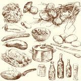 Food collection stock illustration