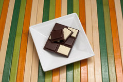 Food collection - Black and white chocolate Royalty Free Stock Image