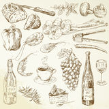 Food collection - drawing Royalty Free Stock Image