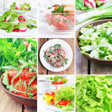 Food collection, salads Royalty Free Stock Photography