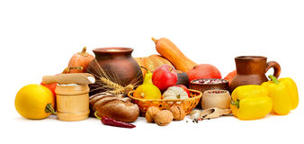 Food collection  on white. Background Stock Photography