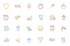 Food Colored Outline Vector Icons 5 Stock Photo