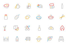 Food Colored Outline Vector Icons 11 Stock Photography
