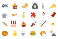 Food Colored Vector Icons 6 Stock Images