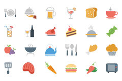 Food Colored Vector Icons 1 Stock Photography