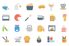 Food Colored Vector Icons 5 Stock Photos