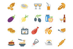 Food Colored Vector Icons 9 Royalty Free Stock Photography