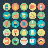 Food Colored Vector Icons 4 Royalty Free Stock Image