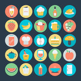Food Colored Vector Icons 8 Royalty Free Stock Photos