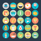 Food Colored Vector Icons 5 Stock Photography