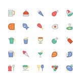 Food Colored Vector Icons 1 Stock Image