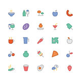 Food Colored Vector Icons 9 Stock Photo