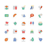 Food Colored Vector Icons 4 Stock Photography