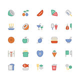 Food Colored Vector Icons 2 Royalty Free Stock Photo