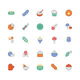 Food Colored Vector Icons 12 Royalty Free Stock Photos