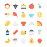 Food Colored Vector Icons 5. This is food icon pack is perfect for dietary projects, healthy lifestyle and nutrition based designs Royalty Free Stock Photography