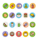 Food Colored Vector Icons 13. These Food Icon Vector will satisfy all your design hungers Included in this pack are all kinds of delicious goodies and good eats Vector Illustration