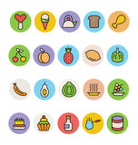 Food Colored Vector Icons 7 Royalty Free Stock Photography