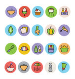 Food Colored Vector Icons 8 Royalty Free Stock Photography