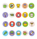 Food Colored Vector Icons 1 Stock Photo
