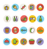 Food Colored Vector Icons 12 Stock Photo