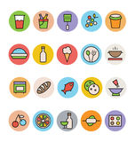 Food Colored Vector Icons 2 Royalty Free Stock Image
