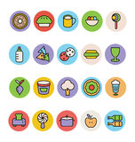 Food Colored Vector Icons 14 Stock Image