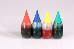 Food Coloring. Four bottles of food coloring Stock Image