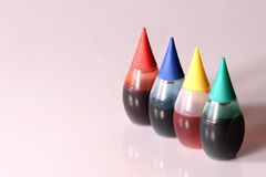 Food Coloring. Four bottles of food coloring Stock Photography