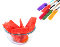 Food colors variety Royalty Free Stock Photography