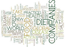Food Companies Fail To Tackle Diet Crisis Text Background  Word Cloud Concept. FOOD COMPANIES FAIL TO TACKLE DIET CRISIS Text Background Word Cloud Concept Royalty Free Stock Photos