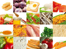 Food composition. Composition of different food. It is possible to use the background Stock Photos
