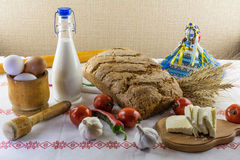 Food composition in country style Stock Image