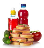 Food and compote Stock Photography