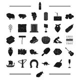 Food, computer, transportation and other web icon in black style. tool, England, Viking icons in set collection. Royalty Free Stock Photos