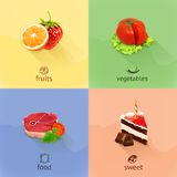Food concept vector illustration Royalty Free Stock Photography