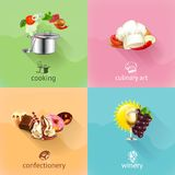 Food, concept vector set Stock Images