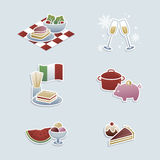 Food concepts icons Royalty Free Stock Photography