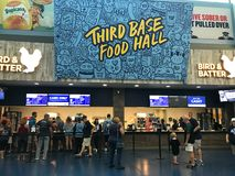 Food Concourse at Tropicana Field, St. Petersburg, Florida.  stock photo